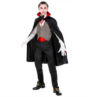 6 tlg. Vampir Dracula Kostüm Set Kinder ---140