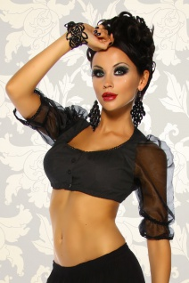 Sexy Dirndl Bluse schwarz---M=36-38