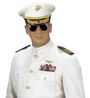 Piloten Gangster Polizei Brille unisex, getönte Gläser, silber Rahmen - Vorschau 3