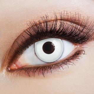 weiß deckende Kontaktlinsen Colsplay Halloween Karneval Jahreslinsen