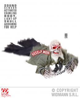Deko Figur Untoter Skelett Groundbreaker Schallsensor animiert Halloween