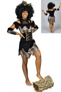 Afrika Neandertaler Steinzeit Dschungel Kostüm Damen 4 tlg. Gr. 38