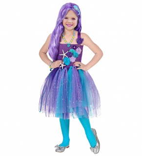 Meerjungfrau Kostüm Kleid Tutu Mädchen Kinder 2tlg mehrfarbig Gr 116