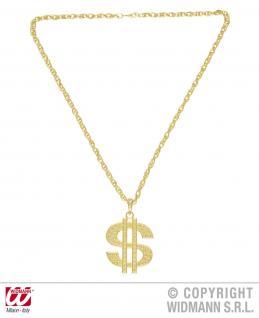 Goldene Dollar Kette, Scheich, Gangster, Rapper 4878