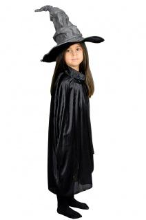 Umhang schwarz Cape Kostüm Kinder 50 cm lang Karneval Halloween
