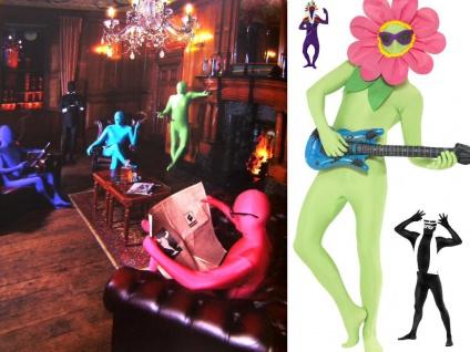 GANZKÖRPER Kostüm Anzug, Second Skin ---ORANGE Gr. M