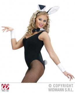 4tlg. Bunny Hasen Set, Ohren, Kragen Kostüm Damen Junggesellenabschied - Vorschau 2