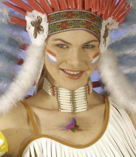 Indianer Halskette , Squaw, Halsschmuck, Schmuck 6995