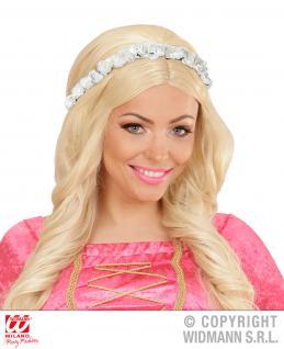 Blumen Haarband Stirnband Oktoberfest Hippie weiß Kopfband Schmuck Damen