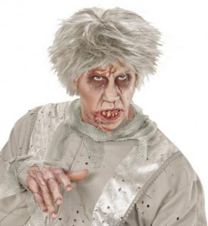 Zombie Perücke grau Karneval Mottoparty