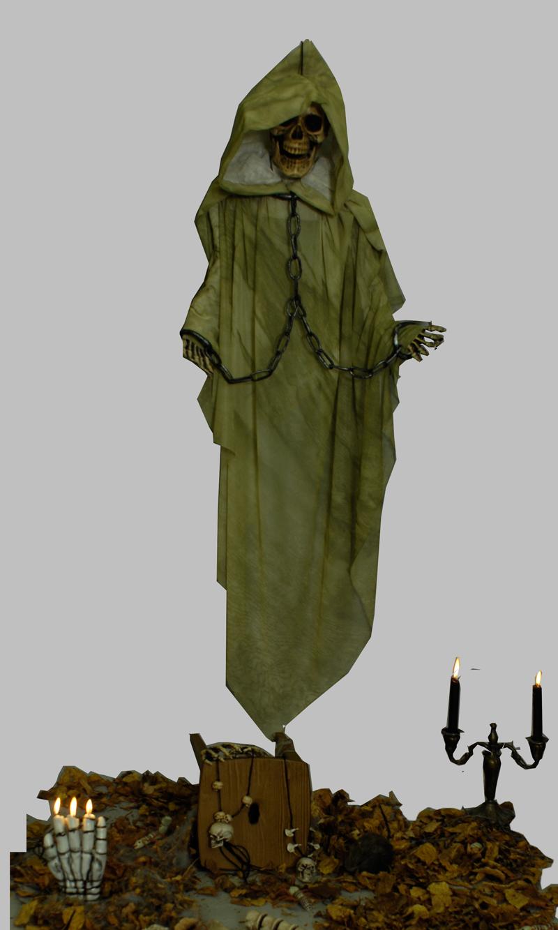 Deko Figur Mumie Mummy hängen Halloween ca 100 cm lang z