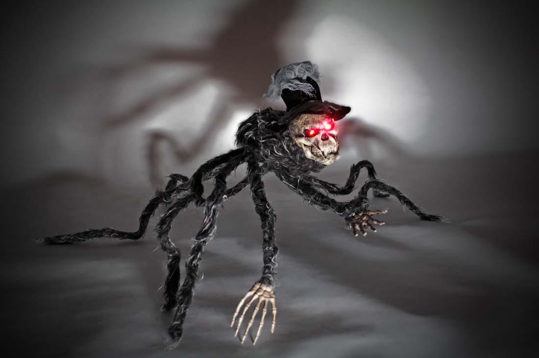riesen spinne kopfspinne leuchtende augen 70x70 deko halloween kaufen bei preiswert123. Black Bedroom Furniture Sets. Home Design Ideas