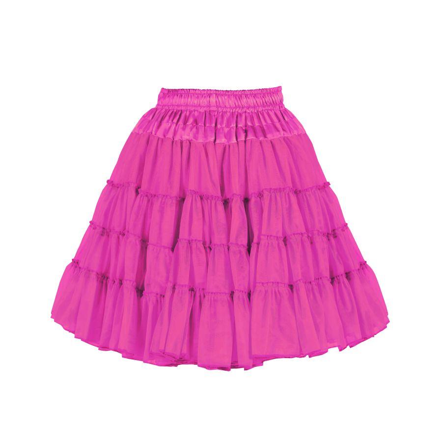 buy online dd227 6ac49 Petticoat Tutu Tüllrock knielang PINK 2-lagig Volumen Damen Kostüm