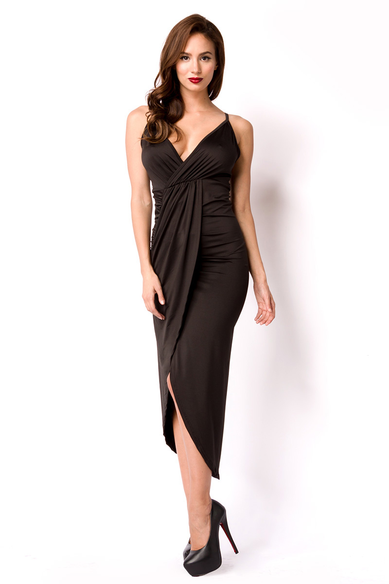 6d2ab9cfbc2066 Kleid schwarz lang ---M - Kaufen bei preiswert123