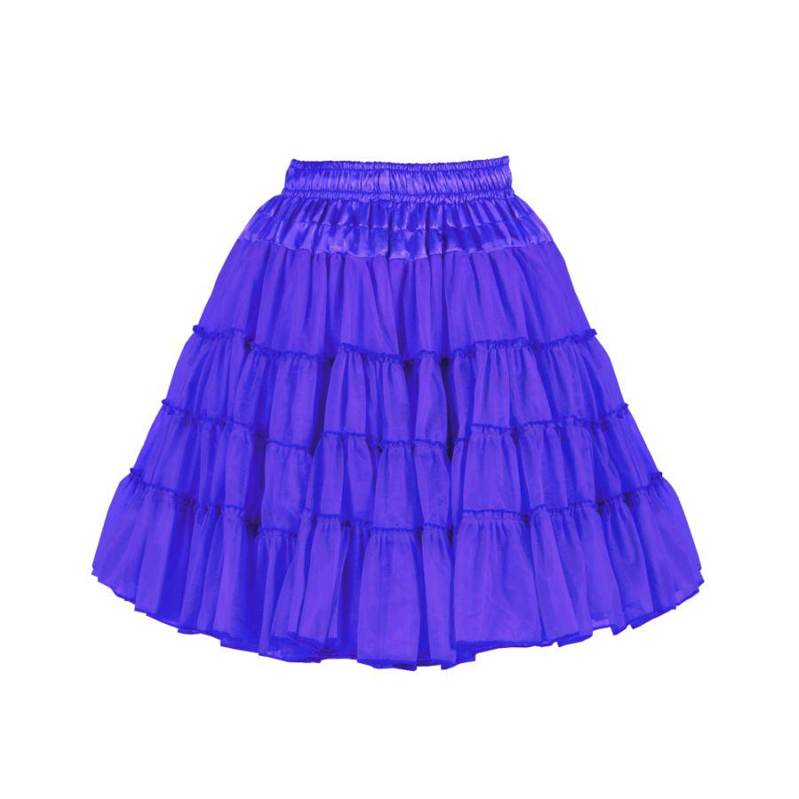 heiß-verkauf echt beliebt kaufen neue Version Petticoat Tutu Tüllrock knielang BLAU 2-lagig Volumen Damen Kostüm