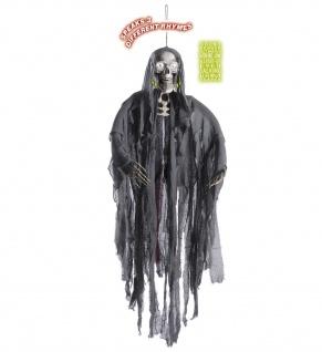 Figur, Sensenmann, Tod, 153 cm, Augen leuchten /spricht 3 Sätze, Deko, Halloween