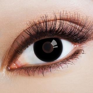 schwarze deckende Kontaktlinsen Halloween Karneval Jahreslinsen