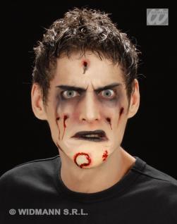 Zombie, angefaultes Kinn, Blut, Effekte Halloween