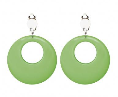 80er Jahre Neon grün Ohrclips Ohrschmuck Damen Kostüm Hippie (b)
