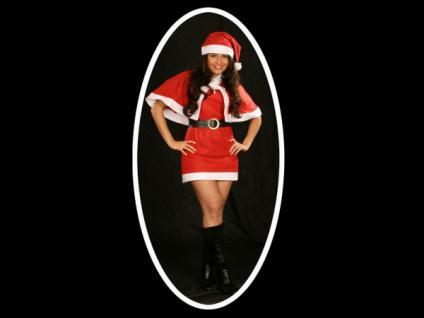 4tlg. sexy Weihnachtskostüm, Kleid, Gr. 36-38