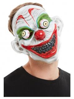 Boeser Clown Maske mit beweglichen Augen Halloween Horror