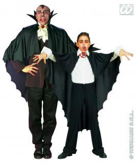 Vampir Umhang, Cape, schwarz m. Kragen Herren u. Kinder 3582 - Vorschau 1