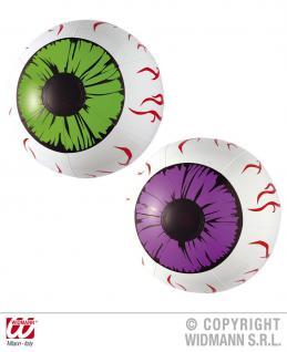 Aufblasbar Set: 2 XXL Augen, 25 cm Halloween, Horror, Party, Deko