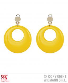 80er Jahre Ohrringe Ohrclips Ohrschmuck gelb Neonfarben