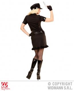5 tlg.Polizei, Sexy Polizistin Cop Kostüm, schwarz Damen Karneval - Vorschau 2