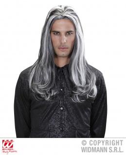 Perücke wie ECHTHAAR Herren, Vampir, grau-schwarz M9 - Vorschau 2