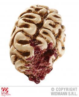 Deko angefressenes Gehirn, Brain Latex 17 cm Horror Zombie Halloween