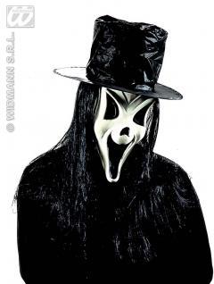 Scream Geist Maske + Hut + Haare, Grusel, Halloween , Horror - Vorschau 3