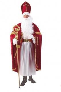 Bischof, St. Nikolaus, Weihnachtsmann Kostüm, Mitra Umhang edle Ausführung L-XL