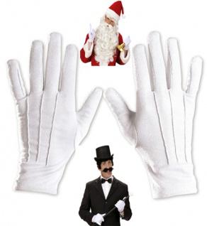 Handschuhe weiß, Zauberer, Magier, Clown, Weihnachtsmann Damen Herren