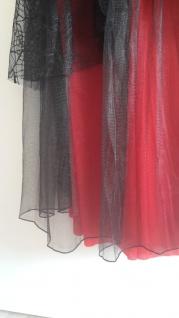 2 tlg Vampir Hexen Spinnen Gothic rot schwarz Kostüm mit Halsband 48-50 - Vorschau 4