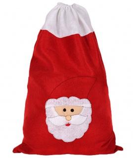 Weihnachtssack, Nikolaussack Geschenkesack, Beutel 50X70 rot, Kordel