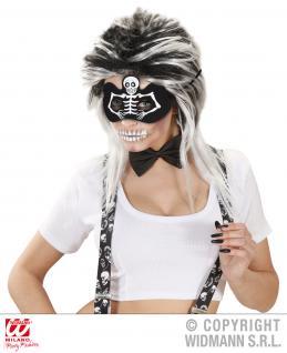 Augenmaske Skelett Maske weiches Material Damen Herren Halloween