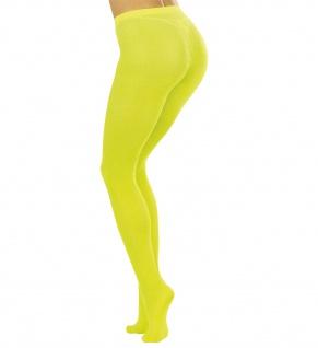 NEON Feinstrumpfhose Strumphose Damen 40 DEN, Neon gelb
