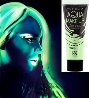 Aqua Neon UV Schwarzlicht Face Body Glow in the dark 30 ml Tube Schminke