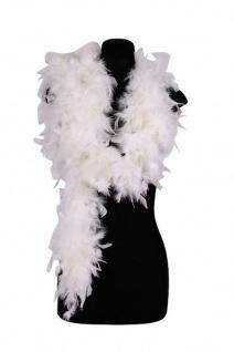 Federboa Boa weiß 200 cm lang 80 g Karneval Charleston Damen