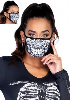Totenkopf Skull Mundschutz Maske Gesichtsmaske Print Druck Damen