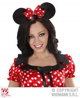 Haarreif Maus Ohren Mouse rote Schleife, Kinder, Erwachsene