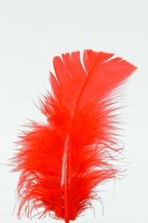 100 Stück Federn ROT, gefärbt ca.12 cm, Hühnerfedern, Basteln für Kostüme