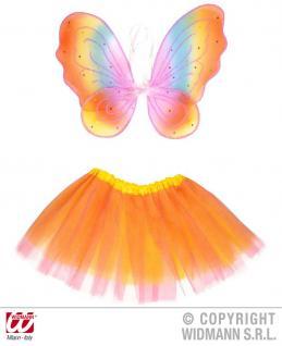 Fee Kostüm, Elfen Mädchen kinder Tütü Flügel 104-122