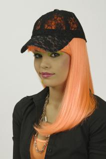 Base Cap Kappe Mütze SCHWARZ aus Spitze Damen und größere Kinder - Vorschau 2