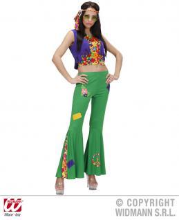 70er Woodstock Hippie Kostüm 4tlg. Damen S -36-38 Karneval Mottoparty