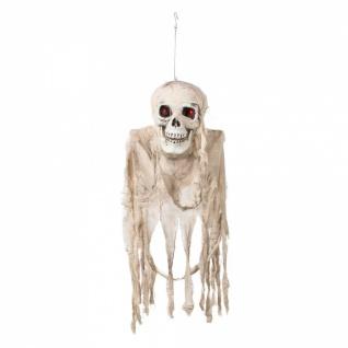 Totenkopf Skelett Figur animiert sound leuchtet Halloween Deko