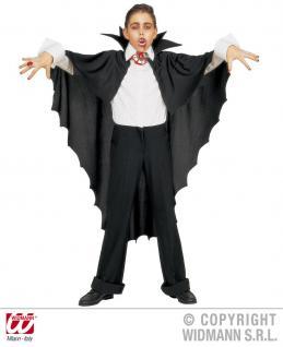 Vampir Umhang, Cape, schwarz m. Kragen Herren u. Kinder 3582 - Vorschau 2