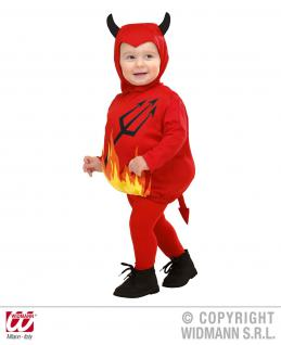 2 tlg. Kostüm Teufel, Kinder Kleinkinder 80-86, 1-2 Jahre, Karneval 1897
