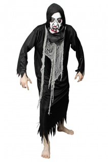 Vampir Zombie Monster Kostüm Kutte Kapuze, Fetzen Herren Halloween
